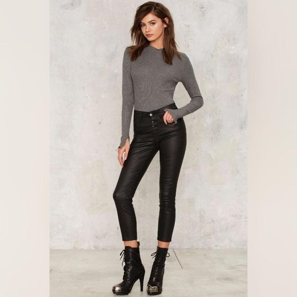 Nasty Gal Denim - NWT Nasty Gal RES Denim Coated Skinny Crop Jeans